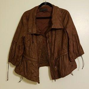 Zara Jacket Brown Faux Leather